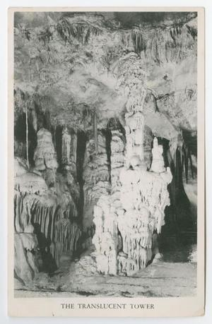 Primary view of object titled '[Postcard of The Translucent Tower Cave, Boerne, Texas]'.