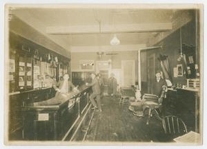 Primary view of object titled '[Photograph of Interior of Krause's Bar]'.