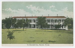 Primary view of object titled '[Postcard of Ye Kendall Inn, Boerne, Texas]'.