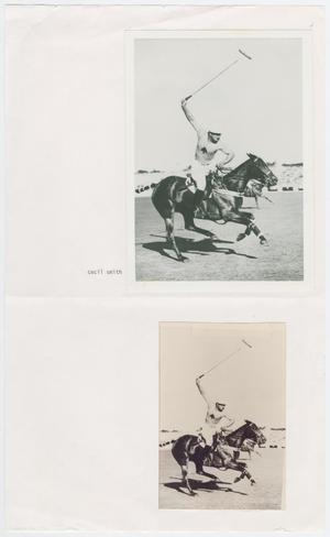 Primary view of object titled '[Photographs of Cecil Smith Playing Polo]'.