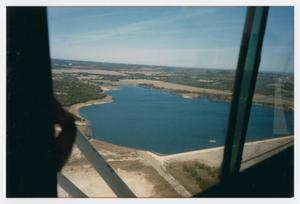 Primary view of object titled '[Photograph of Aerial View of Boerne Lake]'.