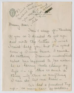 Primary view of object titled '[Letter from Mary Jeane Kempner to Jeane Kempner]'.