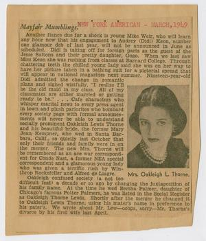 Primary view of object titled '[Newspaper Clippings: Kempner Family]'.