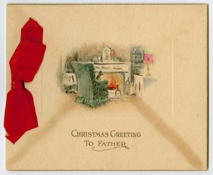 Primary view of object titled 'Christmas Card Sent to Daniel Kempner'.