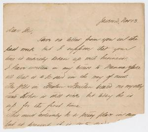 Primary view of object titled '[Letter from Daniel Webster Kempner to Isaac Herbert Kempner, November 13, 1898]'.