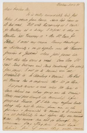 Primary view of object titled '[Letter from Daniel Webster Kempner to Isaac Herbert Kempner, November 2, 1898]'.
