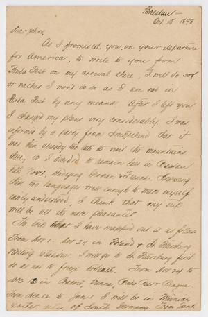 [Letter from Daniel Webster Kempner to John, October 15, 1898]