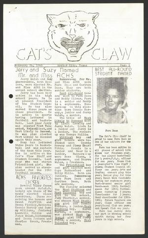 Primary view of object titled 'Cat's Claw (Archer City, Tex.), Vol. 19, No. 9, Ed. 1 Friday, February 24, 1961'.