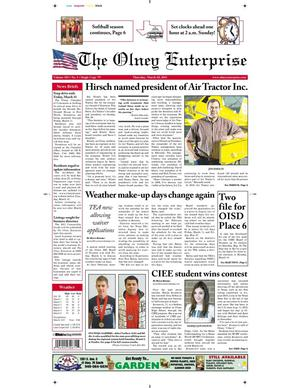 Primary view of object titled 'The Olney Enterprise (Olney, Tex.), Vol. 103, No. 1, Ed. 1 Thursday, March 10, 2011'.