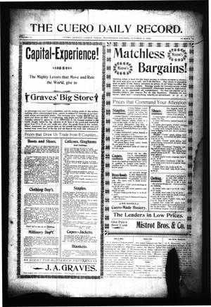 Primary view of The Cuero Daily Record. (Cuero, Tex.), Vol. 11, No. 78, Ed. 1 Wednesday, October 11, 1899