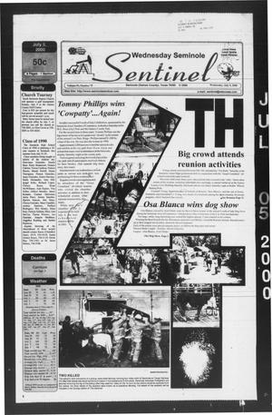 Primary view of object titled 'Seminole Sentinel (Seminole, Tex.), Vol. 93, No. 75, Ed. 1 Wednesday, July 5, 2000'.