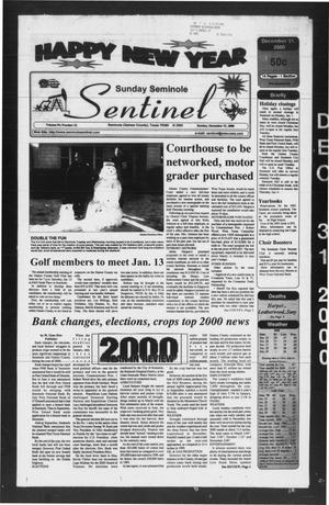 Primary view of object titled 'Seminole Sentinel (Seminole, Tex.), Vol. 94, No. 22, Ed. 1 Sunday, December 31, 2000'.
