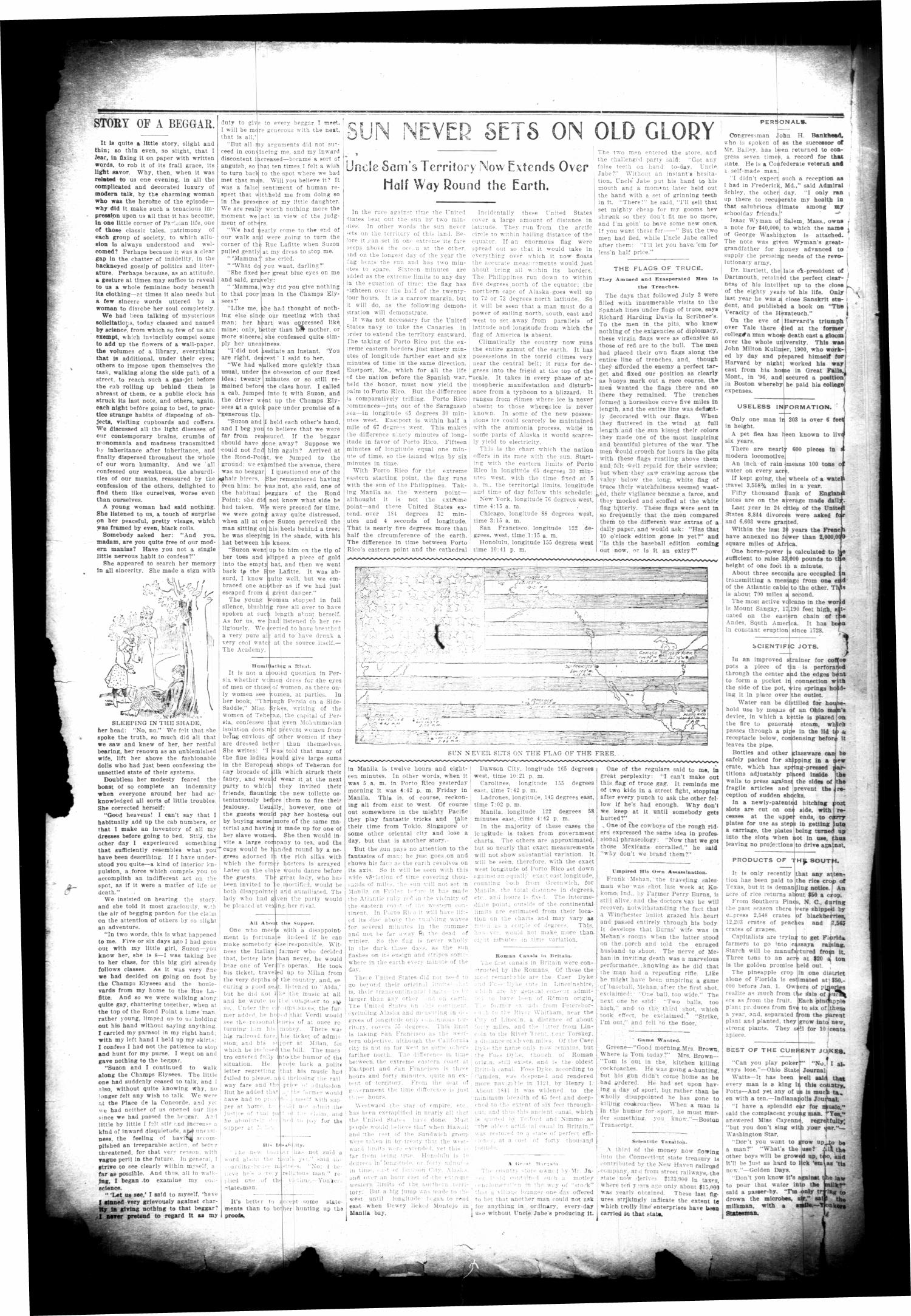 The Cuero Daily Record. (Cuero, Tex.), Vol. 10, No. 29, Ed. 1 Wednesday, February 1, 1899                                                                                                      [Sequence #]: 2 of 8