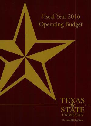 Primary view of object titled 'Texas State University Operating Budget: 2016'.