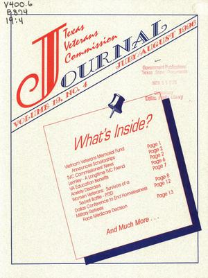 Primary view of object titled 'Texas Veterans Commission Journal, Volume 19, Issue 4, July/August 1996'.