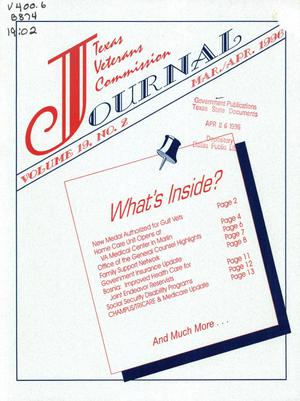 Primary view of object titled 'Texas Veterans Commission Journal, Volume 19, Issue 2, March/April 1996'.