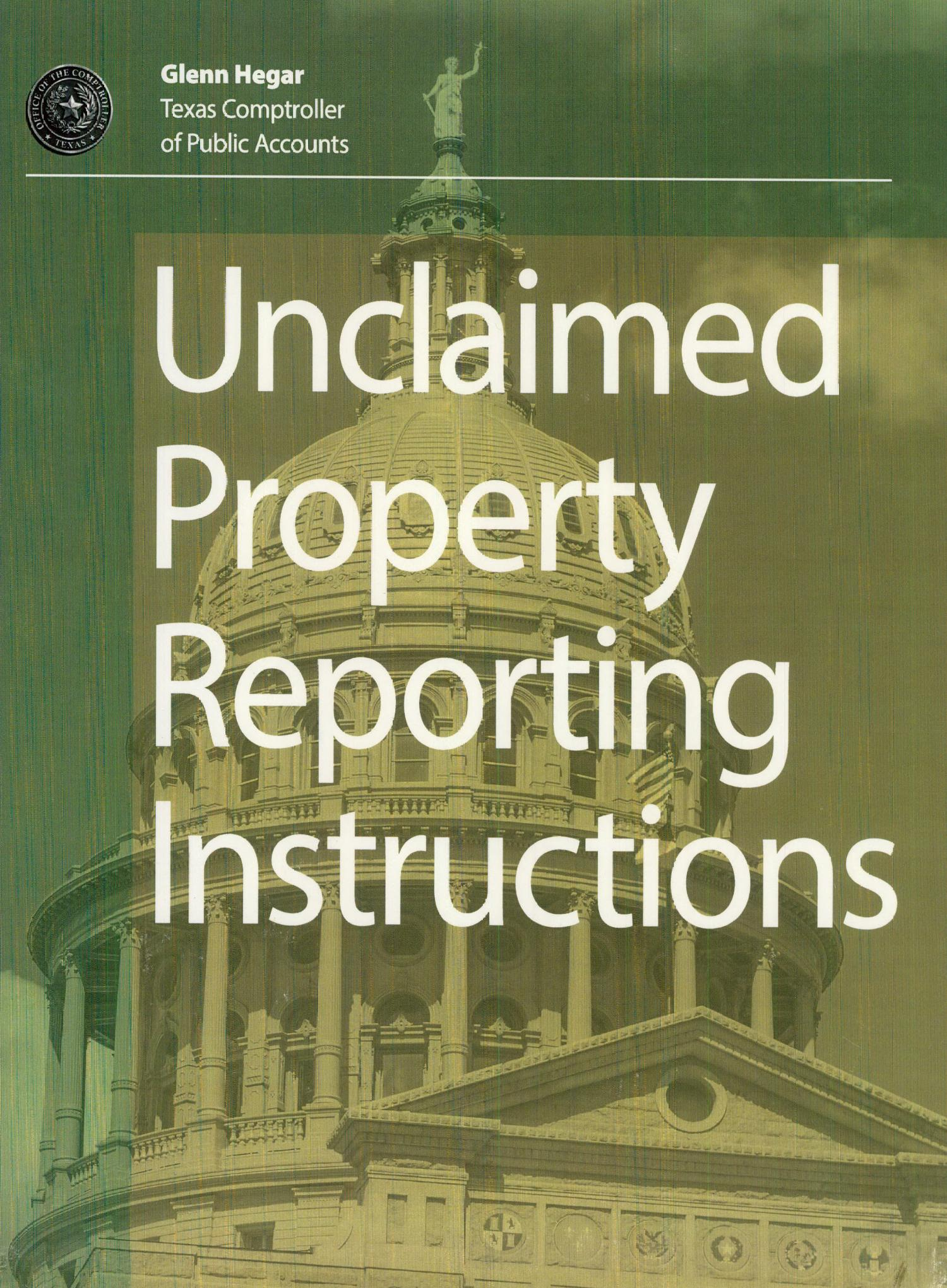 Texas Unclaimed Property Reporting Instructions