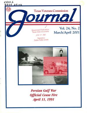 Primary view of object titled 'Texas Veterans Commission Journal, Volume 24, Issue 2, March/April 2001'.