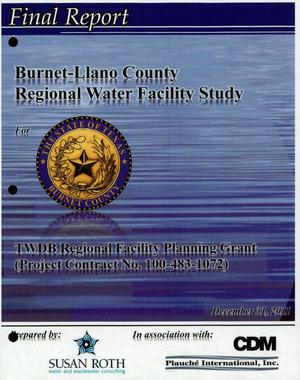 Primary view of object titled 'Burnet-Llano County Regional Water Facility Study'.
