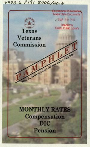 Primary view of object titled 'Texas Veterans Commission Pamphlet, Number 6, November/December2006'.