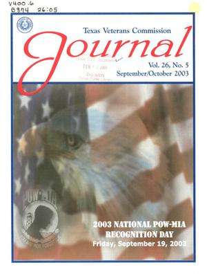 Primary view of object titled 'Texas Veterans Commission Journal, Volume 26, Issue 5, September/October 2003'.