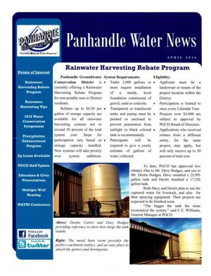 Primary view of object titled 'Panhandle Water News, April 2016'.