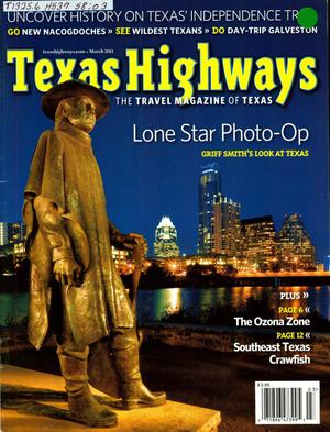 Primary view of object titled 'Texas Highways, Volume 58 Number 3, March 2011'.