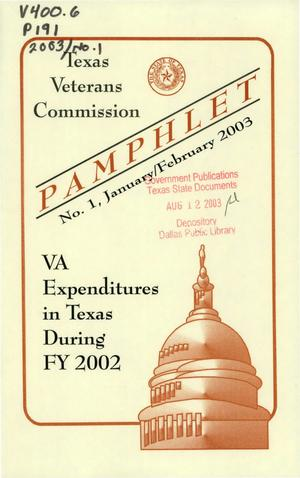 Primary view of object titled 'Texas Veterans Commission Pamphlet, Number 1, January/February 2003'.