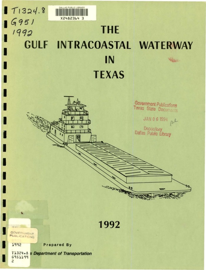The Gulf Intracoastal Waterway In Texas - The Portal to