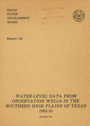 Primary view of object titled 'Water-Level Data from Observation Wells in the Southern High Plains of Texas 1965-70'.