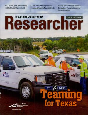 Primary view of object titled 'Texas Transportation Researcher, Volume 51, Number 3, 2015'.