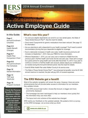 Primary view of object titled '2014 Annual Enrollment: Active Employee Guide'.