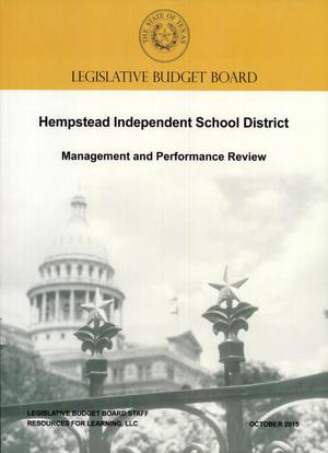 Primary view of object titled 'Hempstead Independent School District, October 2015'.