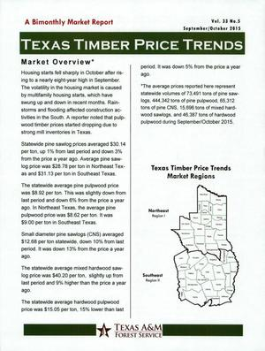 Primary view of object titled 'Texas Timber Price Trends, Volume 33, Number 5, September/October 2015'.