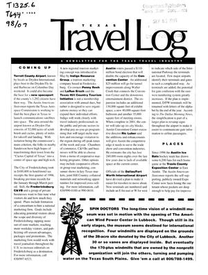 Primary view of object titled 'Texas Travelog, July 1998'.