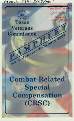 Primary view of object titled 'Texas Veterans Commission Pamphlet, Number 1, January/February 2007'.