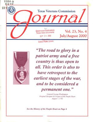 Primary view of object titled 'Texas Veterans Commission Journal, Volume 23, Issue 4, July/August 2000'.
