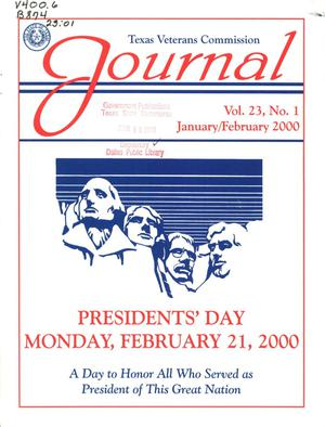 Primary view of object titled 'Texas Veterans Commission Journal, Volume 23, Issue 1, January/February 2000'.