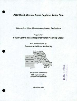 Primary view of object titled 'Regional Water Plan: Region L (South Central Texas), 2016, Volume 2. Water Management Strategies'.
