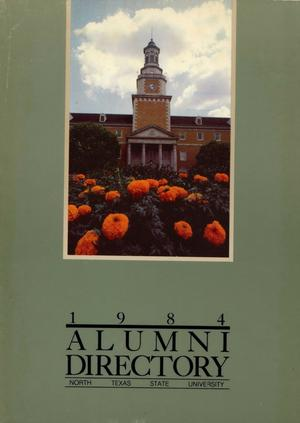Primary view of object titled 'University of North Texas Alumni Directory, 1984'.
