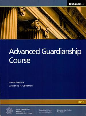 Primary view of object titled 'Advanced Guardianship Course'.