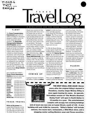 Primary view of object titled 'Texas Travelog, April 2000'.