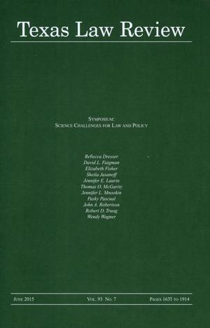 Primary view of object titled 'Texas Law Review, Volume 93, Number 7, June 2015'.
