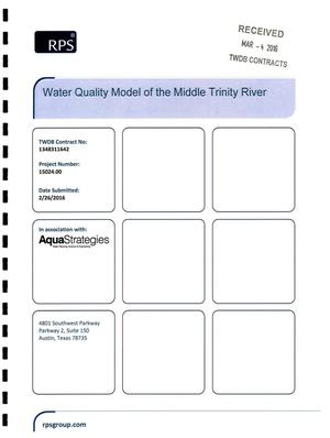 Primary view of object titled 'Water Quality Model of the Middle Trinity River'.