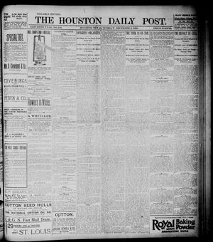 Primary view of object titled 'The Houston Daily Post (Houston, Tex.), Vol. ELEVENTH YEAR, No. 243, Ed. 1, Tuesday, December 3, 1895'.