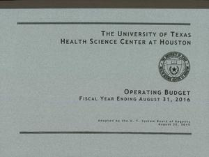Primary view of object titled 'University of Texas Health Science Center at Houston Operating Budget: 2016'.
