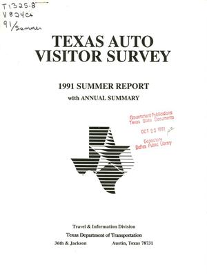 Primary view of object titled 'Texas Auto Visitor Survey Report: Summer 1991'.