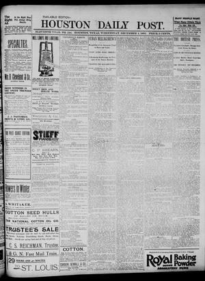 Primary view of object titled 'The Houston Daily Post (Houston, Tex.), Vol. ELEVENTH YEAR, No. 244, Ed. 1, Wednesday, December 4, 1895'.