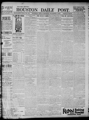 Primary view of object titled 'The Houston Daily Post (Houston, Tex.), Vol. ELEVENTH YEAR, No. 249, Ed. 1, Monday, December 9, 1895'.