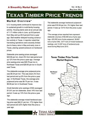 Primary view of object titled 'Texas Timber Price Trends, Volume 33, Number 3, May/June 2015'.